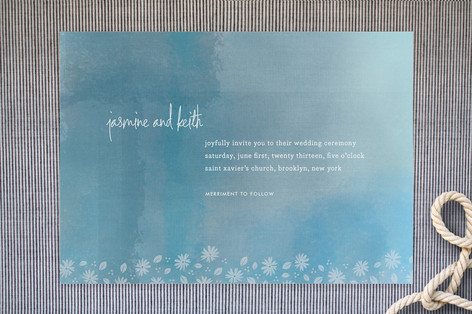 water color wedding invitation