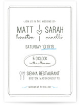 Bistro Wedding Invitations