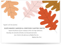 Autumn Oak Wedding Invitations