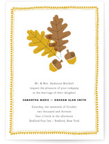 One Fine Autumn Day Wedding Invitations