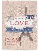 J&#039;adore Paris Wedding Invitations