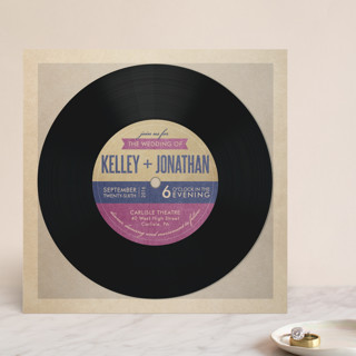 record wedding invite