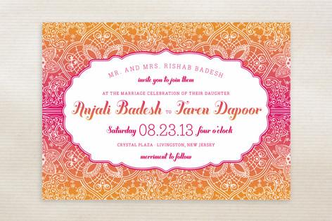 Mod Mehndi Wedding Invitations By Sarah Brown Minted