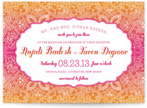 Mod Mehndi Wedding Invitations