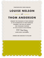 Color Block Wedding Invitations