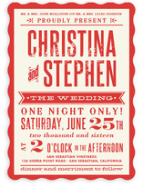 Woodtype Poster Wedding Invitations