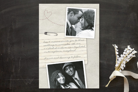 momento photo wedding invite