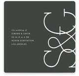 Sleek Chic Wedding Invitations