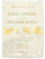 Heart of Gold Wedding Invitations