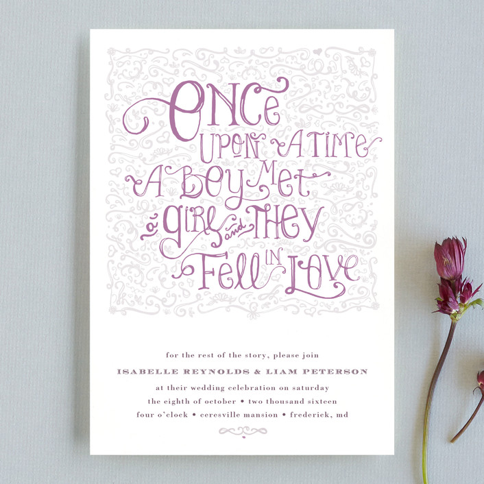 12 Pretty-In-Purple Wedding Invites | Indie Wedding Guide