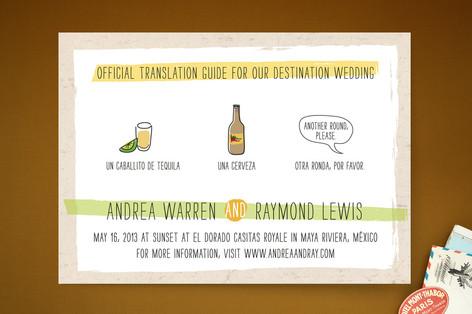 Translation Destination Wedding Invitations