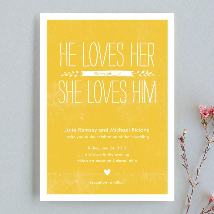 Yellow Modern Wedding Invitation