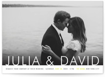 Minimalist Display Wedding Invitations