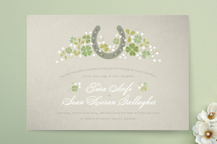 horseshoe wedding invitation