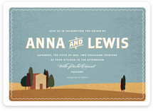 Tuscan Tableau Wedding Invitations