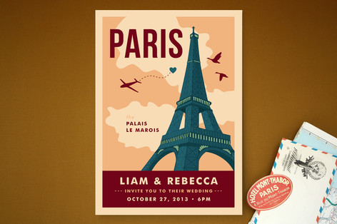 Bonjour Paris Wedding Invitations Created for you by Minted global community
