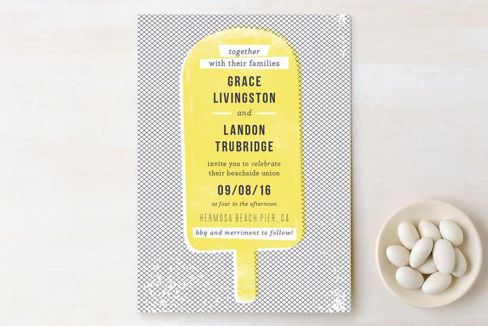 Yellow Popsicle Wedding Invitation