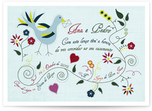 Leno Dos Namorados Wedding Invitations