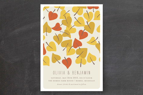 Autumn Leaves Wedding Invitations