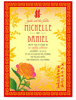 Red Envelope Wedding Invitations