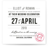 Certified Chic Wedding Invitations