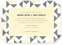 Triangle Flirtation Wedding Invitations