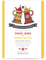 German Stein Toast Wedding Invitations