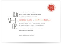 Boy Meets Girl Wedding Invitations