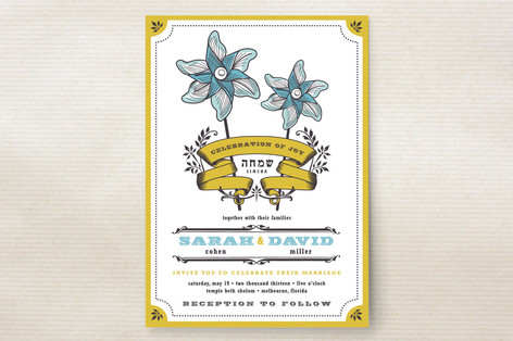 Pinwheel Stars Wedding Invitations