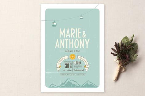 mountains wedding invitation