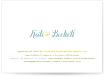 Buttery Wedding Invitations