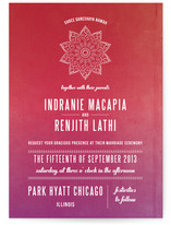 Indian Love Wedding Invitations