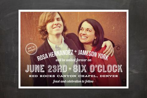 Graphic Photo Wedding Invitations