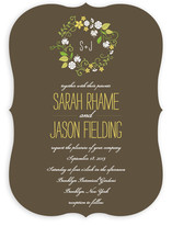 A Bloomin&#039; Wreath Wedding Invitations