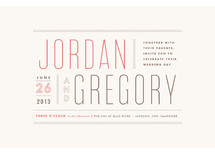 Column Rule Wedding Invitations By Jennifer Wick