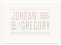 Column Rule Wedding Invitations