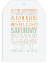 Blended Space Wedding Invitations
