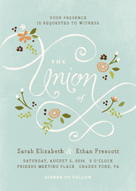 A More Perfect Union Wedding Invitations By Jennifer Wick