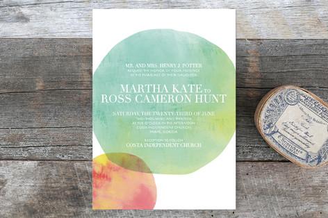 Watercolor Dots Wedding Invitations