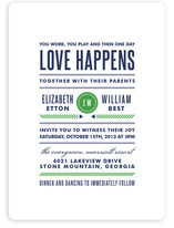 Modern Prep Wedding Invitations