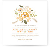 Poppies and Peonies Wedding Invitations