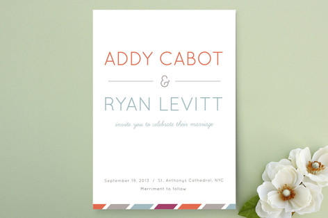 Fruit Stripes Wedding Invitations
