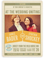 The Big Match Wedding Invitations