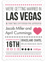 Vegas Type Wedding Invitations