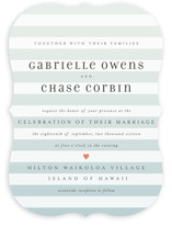 Ombre Stripes Wedding Invitations