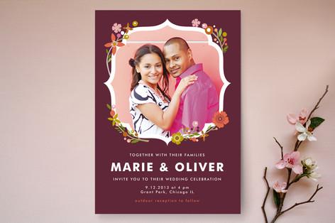 Ornamental Floral Wedding Invitations
