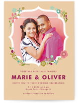 Ornamental Floral Wedding Invitations