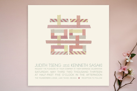 Double Washi-ness Wedding Invitations
