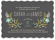 Botanical Blooms Wedding Invitations