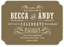 Antique Chalkboard Wedding Invitations